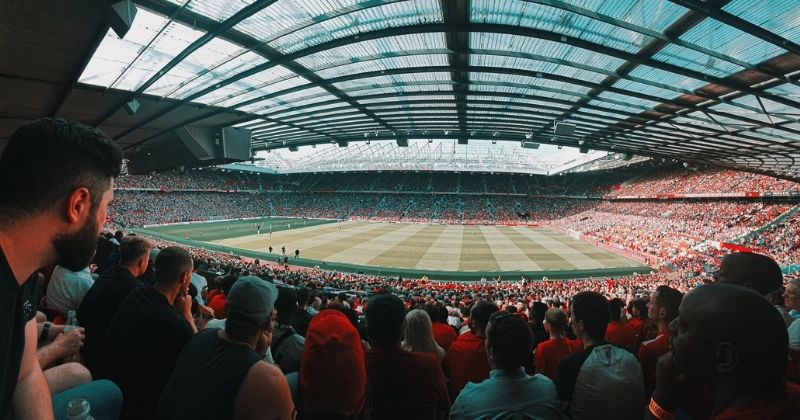 Manchester United Premier League Game At Old Trafford